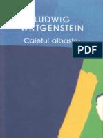 Ludwig Wittgenstein-Caietul Albastru-Humanitas