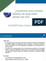 OWASP_Spain_20080314_Herramientas_de_análisis_estático_de_seguridad_del_código_estado_del_arte