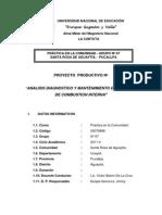 Proyecto Diagnostico y Mantenimiento de Motores de Combustion Interna