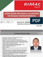PICLima Legislacion Aplicada Gestion Riesgos Disergonomicos