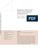 Thompson - Deliberative Democratic Theory and Empirical Political Science