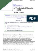 Psychological Maturity