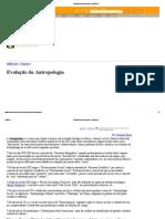 Evolução da Antropologia - InfoEscola