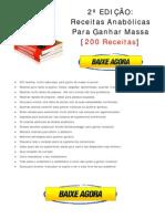 Baixar eBook Livro Receitas Anabolicas Para Ganhar Massa 2.0