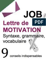 Lettre de Motivation- Grammaire