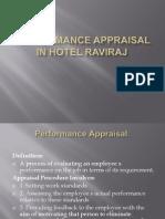 Performance Appraisal in Hotel Raviraj