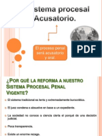 Art. 20 Sistema Procesal Acusatorio.