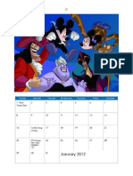 Disney Villains 2012 Calendar