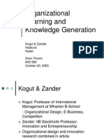 7_Organizational Learning and Knowledge Generation