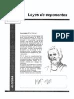 Leyes de Exponentes-Algebra