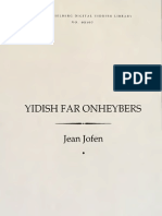 Yiddish Far Onheybers