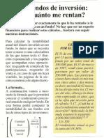 Cálculo de la rentabilidad de un fondo de inversión (OCU, Dinero y Derechos #40, abril 1997)