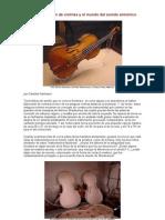 La construcción de violines y el mundo del sonido armónico