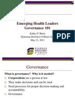Kathy O'Brien EHL Toronto Governance 101
