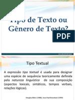 Apresentação - Tipo de texto_ou Gênero de texto