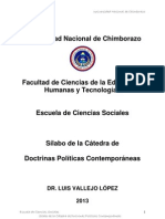 Silabo Doctrinas Políticas y Contemporáneas