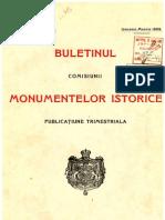 Buletinul Comisiunii Monumentelor Istorice 1909 Anul II