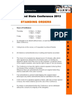 state conference standing orders 13