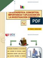 TEMA Nº01 ESTADISTICA, IMPORTANCIA Y APLICACIONES