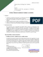 Informe Laboratorio - Perdidas de Energia en Tuberias y Accesorios