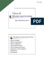 2 Tema 43 Micosis Oportunistas - 2011-12