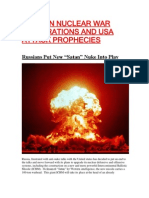 Russian Nuclear War Preparations and Usa Attack Prophecies