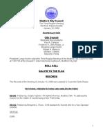 City Council Agenda January 20, 2009