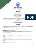 City Council Agenda October 13, 2009