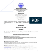 City Council Agenda October 20, 2009