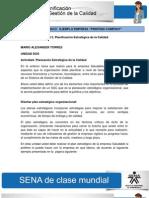 Actividad de Aprendizaje unidad 2 Planificación Estratégica de la Calidad