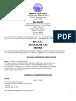 City Council Agenda June 3, 2008