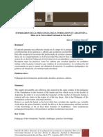 Itinerarios de La Pedagogia de La Formacion en Argetina Marcelo Vitarelli