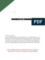 Documento de Condominio Torre Canaima