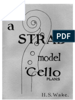 Guitar Tech - H S Wake - A Strad Model Cello Plans (Luthier-Lutherie-Violin-Cello)
