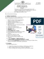 ELA Gr8 StudyGuide FinalExam 2013