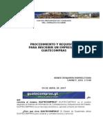 Procedimientos y Requisitos Para Inscribir Una Empresa en Guatecompras