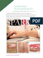 Diamante Artificial Trenzado Pulsera de Diy