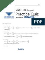 MATH1151 quiz