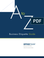 A to Z Business Eiquette Guide 8p