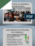 Formacion academica universitaria