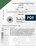 ACTFL WPT Certified