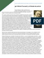Blandine BarretKriegel Michel Foucault y El Estado de Polica