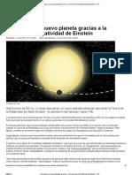 Descubren un nuevo planeta gracias a la Teoría de la Relatividad de Einstein – RT