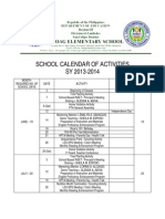Laoag ES - School Calendar SY 2013-2014
