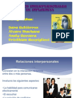 Procesos Interpersonales y de Influencia