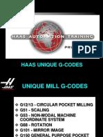 Unique G Codes