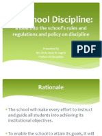 On School Discipline - Short (for Teacher's Seminar)