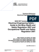 EES 013 Electrical Engineering Safety Technical Reference for NSW Metalliferous and Extractives Mines
