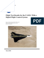 NASA - Flight Test Result for the F-16XL With Digital Flight COntrol System