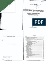 Constructii Metalice Calcul Prin Metoda Starilor Limita Petre Siminea